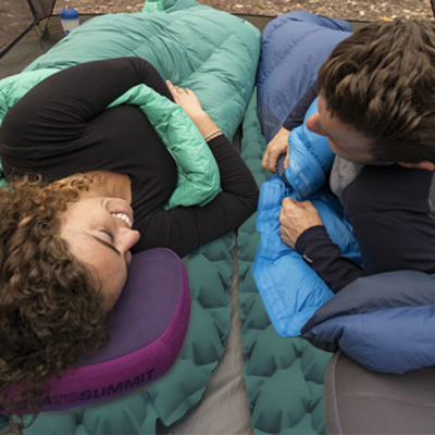 2 air mattresses in 2 person tent