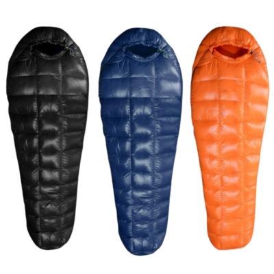 Vuno Puffy Goose Down Sleeping Bags Orange Black and Blue